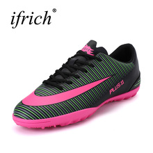 Ifrich 2017 New Original Football Shoes For Men Black/Yellow Shoes Traning Football Anti-Slippery Mens Indoor Soccer Shoes(China)