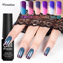 Verntion Temperature Changing UV Varnish Acrylic Nail Polish Lucky Uv Lamp Soak Off Thermo Mood Color UV Chameleon Uv Gel Polish(China)