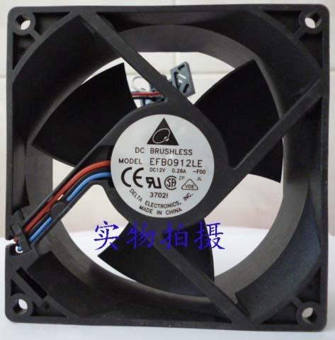 Delta EFB0912LE F00 DC 12V 0.26A 90x90x38mm nServer Square fan<br>