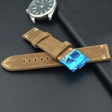 Новые высококлассные ремень 19 мм 20 мм 21 мм 22 мм ручной Итальянский Настоящая кожа часы ремешок Винтаж серый ремешок для часов Для Tissot Casio(China)