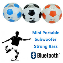 PU Leather Sports Bluetooth Football Speaker mini Subwoofer 600mAh battery portable home theater music audio player hands call