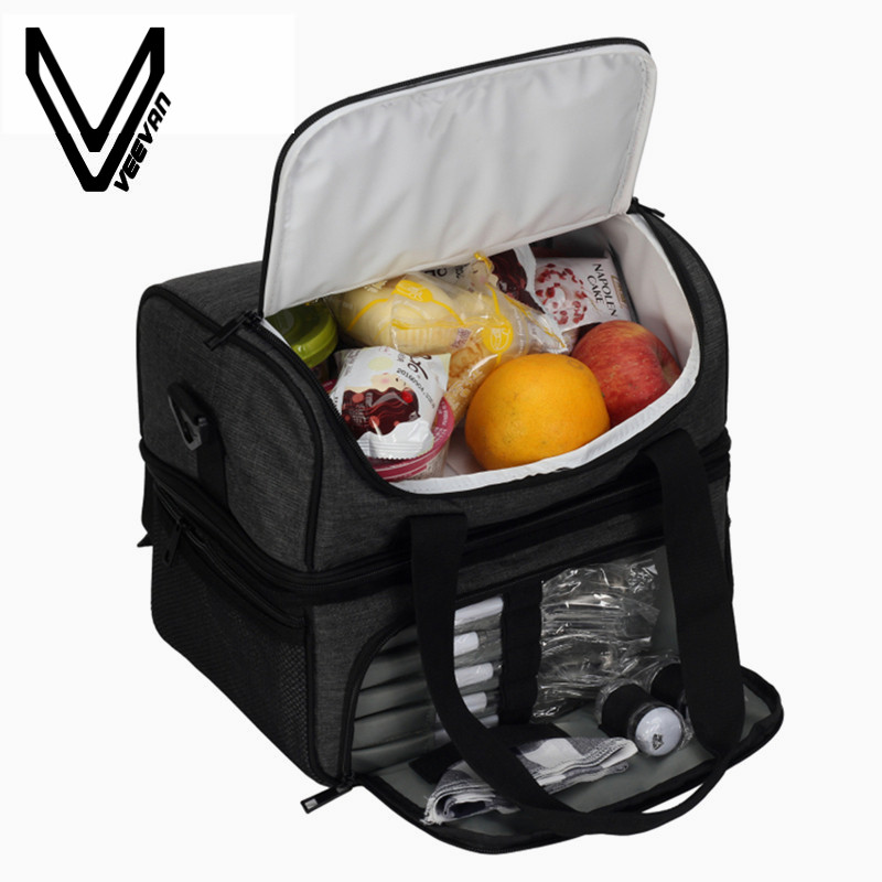 Thermal Lunch Bags + Gifts for Women Handbags Portable Insulated Oxford Picnic Bag Cooler Waterproof Lunch Tote Family Trip Bags