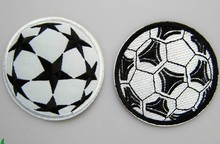 Free shipping Football star badge ball stick movement patch women apparel accessories embroidered iron on patches for clothing