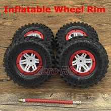 "Patent Product 1/10 RC AXIAL Wraith 2.2"" INFLATABLE Beadlock WHEEL RIMS Metal Ring + 130MM SOFT ROCK Tyre"