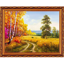 2017 DIY New 3d Diamond Painting Cross Stitch Needlework Full Drill Mosaic Resin Diamond Embroidery Rhinestones Country Road(China)