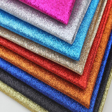 50x130cm Thin Glitter Leather Fabric for Decoration Diy Bow Wallpaper Handbag Shoes Black Pink Gold Shiny Pvc Fabric Polipiel(China)