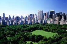 DIY frame Central Park, New York City, USA Urban Landscape Scenery Poster Silk Fabric Print Picture(China)