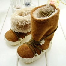 NEW style 1pair antislip cotton-padded First Walkers winter Warm Baby Shoes, prewalker snow Boots,Kids toddlers/Newborn shoes(China)