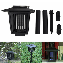 Insect Killer Garden Supplies LED Solar Powered Outdoor Lawn Pathways Mosquito Insect Pest Bug Zapper Killer