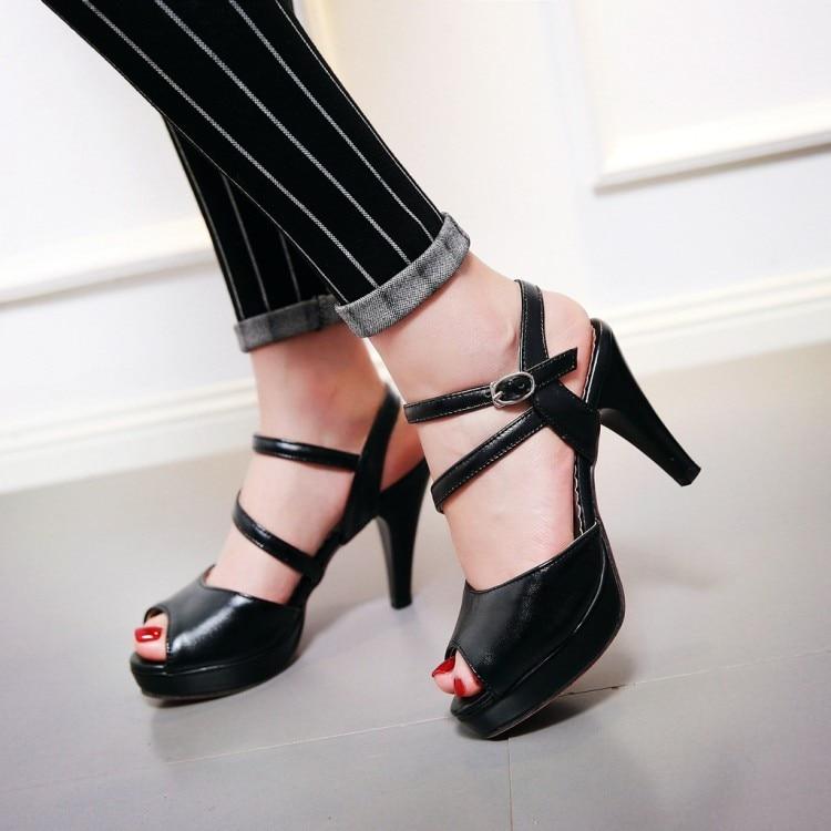 2017 Plus Big Size 34- 46 Sandals  Ladies Platforms lady Fashion Dress Shoes Sexy High Heel Shoes Women Pumps B35<br><br>Aliexpress
