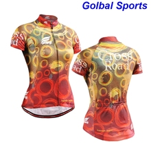 Life on Track Short Sleeve Bike Clothing Outdoor Running Climbing Bicycle Sportswear Cycling Jersey Women