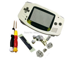 New Arrival White Color Pokemon Version Plastic Lens For Nintendo Gameboy Advance GBA Console Shell Case With X/Y Screwdrivers