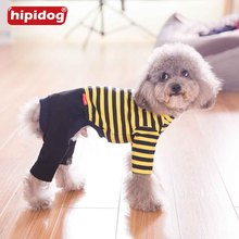 Hipidog Stripes Dog Cat Pet Soft Cotton Jumpsuit Pajamas Puppy Coats Clothes Pet Apparel for Spring Summer Autumn Small Dogs(China)
