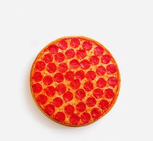 1Piece Funny Pepperoni Pizza Junk Food Hipster Print Cool Pizza Throw Pillow Cuison