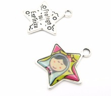 Pendants for necklace antique sliver small star Pendants Jewelry Findings & Components D-3-20