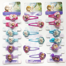 Girls Hair Accessories Elsa Anna Princess Hair Clips Cute Fashion BB Hairpins Cartoon Elastic Hair Rope hair Ornaments headwear