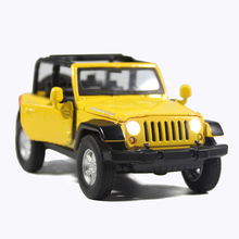 1:32 Jeep Pull Back CAR Diecast Metal Car Toys Scale Pull Back Simulation Alloy Cars Acousto-Optic Auto Model Collection Cars Oy(China)