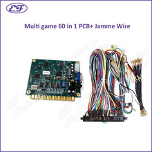 Free shipping Classical Game 60 in 1 PCB for Cocktail Arcade Machine or Up Right MS Pacman game machine with 28PIN Jamma wire