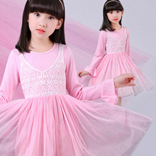 girls autumn long sleeve lace dress robe princess fille enfant mariage de soiree hiver kids clothes costumes vestidos para nina - Shop2798199 Store store