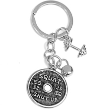 GYM Jewelry Kettle bell Dumbbell Weight Plate Keychain Sports Fitness Bodybuilding Stainless Steel Key Chains Custom For Men