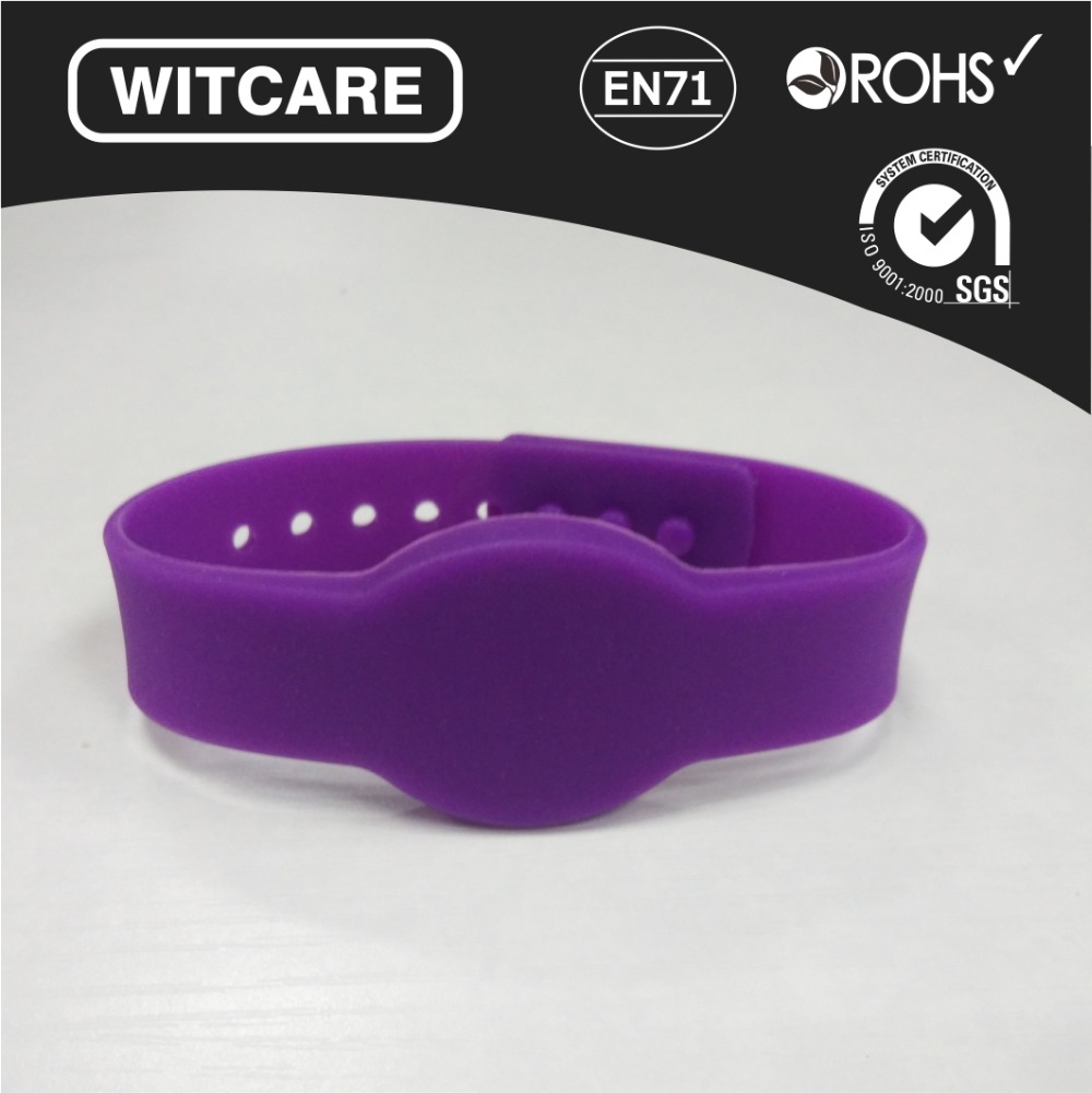 Free shipping(6 pcs) Waterproof NFC Wristband Classic M1K 13.56MHz RFID Silicone Bracelet for Access Control<br><br>Aliexpress