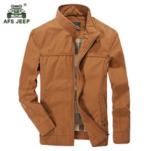 AFS JEEP 2017 Middle-aged men's autumn casual brand 100% cotton khaki jacket coat business man spring army green jackets coats