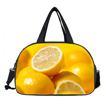 New cool !Waterproof Women Lady 3D Print Fruit Totes Bags Portable Shoes Pocket Sports Travel Yoga Gym Fitness Bag(China)