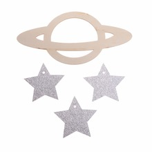 DIY Wall Baby Mobile Outer Space Theme Planets Decor Cute Nursery Hanging Bedroom Decoration Gift for Children C42(China)