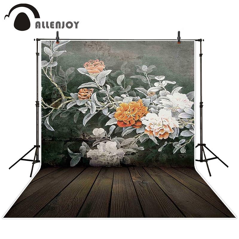 Allenjoy photographic background Flower wall mural backdrops newborn wedding customize photocall 8x8<br><br>Aliexpress