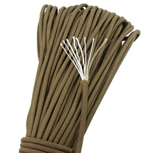 PSKOOK Survival Paracord 550 Parachute Fire Cord Fire Paracord Lanyard Rope Tinder Fishing Line Waxed Jute Fire-Starter 10 Color(China)