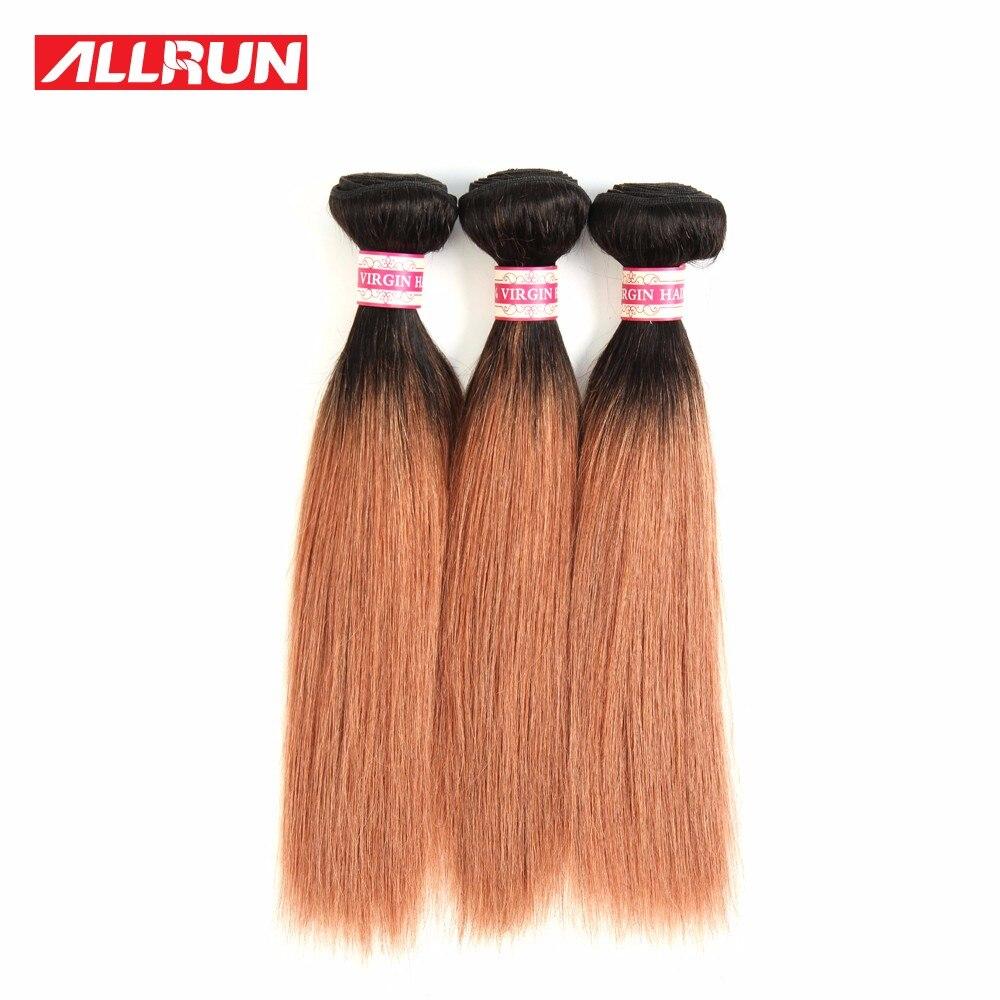7A Grade Peruvian Straight Hair Ombre Hair Extensions 10-14 3 Bundles Peruvian Ombre Hair 2 Tone #1B/27 Ombre Human Hair Weave<br><br>Aliexpress