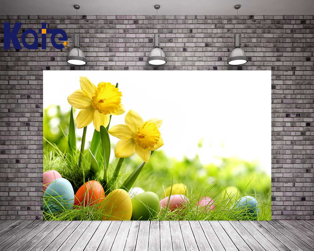 200Cm*150Cm Easter Photography Backdrops Egg Meadow Flowers Background Easter Day Zj<br>