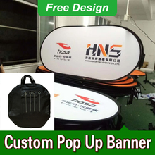 Free Design Free Shipping Horizontal A Frame Banner Pop Up Signs A-Frame Banner Stand(China)