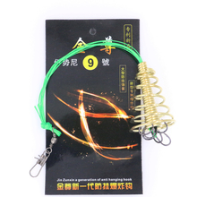 Vissen 1pcs Explosion Fishing Hooks With Braided Wire Hook Explosion Hooks High Carbon Steel Sharp Fishhooks