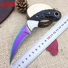get-FORCE Damascus Steel Tactical Fixed Blade Knife,Collection Damascus Hunting Knife,EDC Straight Knives,Camping Knives Tools