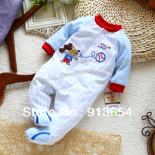 new 2017 spirng autumn baby romper baby clothes newborn baby boy jumpsuits kids baseball stripe long-sleeve overall baby wear