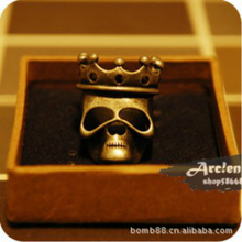 2016 Europe And The United States Fashion Exaggerated Ornaments Retro Crown Skeleton Female Ring Wholesale