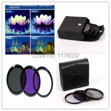 3in1 1set Camera Effects Filter Circular Polarizing CPL / Fluorescent FLD / Lens Protect UV + Filter Case fit 40.5mm Filter Size