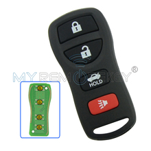 Remtekey remote key fob for nissan key  KBRASTU15 4 button 315Mhz for Nissan Altima Maxima 350Z Armada car key 2004-2009