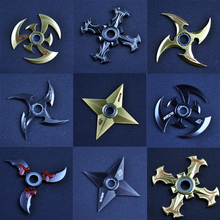 Naruto Shuriken Turn darts Fidgets Cubes Spinner Toy Rotary Tri-spinner Naruto Shuriken Dragon Blade Sword in Hand Action Figure
