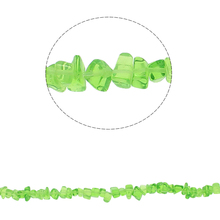 YYW Fashion DIY Making Loose Beads for Bracelet Necklace Jewelry 5-8mm  Green Quartz Aventurine  Crystal  Stone Chips Beads