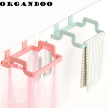 1PC Kitchen Organizer Cupboard Door Back Hanging Stand Trash Garbage Bags Storage Rack Towel Shelf Dish Cloth Hanger Holder