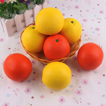 Squishy Simulation Soft PU Fruit Orange Squishy Bread Stress Relief Toy Simulation Slow Rebound Large Bread Decompression Toys