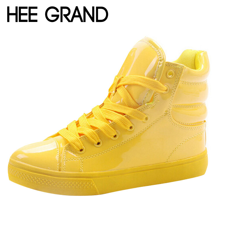 HEE GRAND New Arrival Lighted Candy Color High-top Shoes Men Fashion Unisex Shoes Flat Platform Shoes Couple Shoes XWB001<br><br>Aliexpress