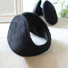 Hot Selling Men's Style Black Fleece Earmuff Winter Ear Muff Wrap Band Warmer Grip Earlap Comfortable Earmuff Gift Accessories(China)
