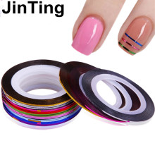 10pcs Striping Tape Line Nail Art Sticker Decoration DIY Decals UV Gel Acrylic Nail Tips(China)