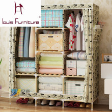 Bedroom furniture garderobe non-woven cloth wardrobe combination folding frame bedroom furniture wardrobe cabinet storage box