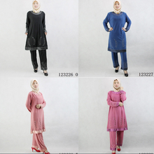 Stock -Crystal Cotton Muslim Women's clothing two pieces sets Liturgical Clothing wholesale/dropshipping 123226(China)