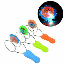 Magnetic Gyro Wheel LED Flashing Spinning Top Magic Spinning Top Laser Led Gyro Kids Baby Flashing Spinning Top(China)