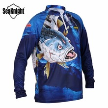 Seaknight SK004 Fishing Clothes Fish Shirt Breathable Perspiration Quick Dry Anti-UV Sports Fishing Clothing L XL XXL XXXL XXXXL(China)